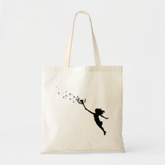 Girl with Dandelion Tote Bag