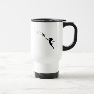 Girl with Dandelion Travel Mug