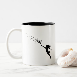 Girl with Dandelion Two-Tone Coffee Mug