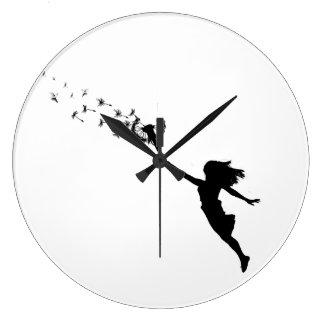 Girl with Dandelion Wall Clocks