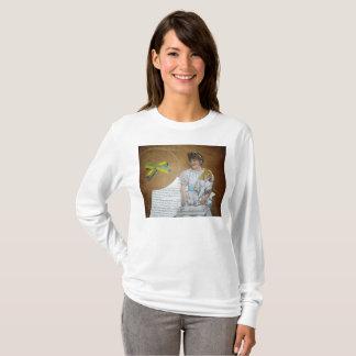 girl with doll backward T-Shirt