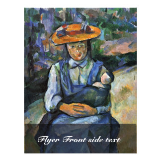 Girl With Doll By Paul Cézanne (Best Quality) 21.5 Cm X 28 Cm Flyer
