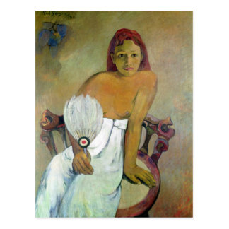 Girl with fan, 1924 postcard