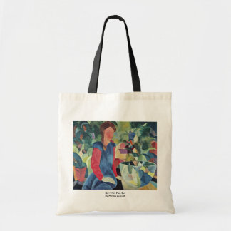 Girl With Fish Bell By Macke August Canvas Bag