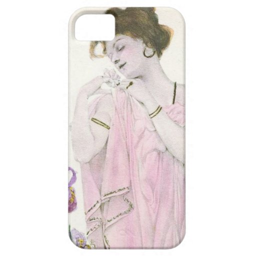Girl with Flower Art Nouveau iPhone 5/5S Case