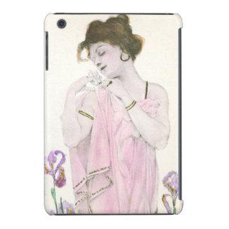 Girl with Flower Art Nouveau iPad Mini Case