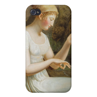 Girl with Flowers Cases For iPhone 4