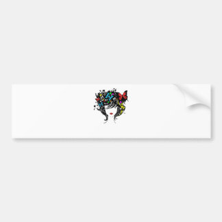 girl with flowers in hair bumper sticker