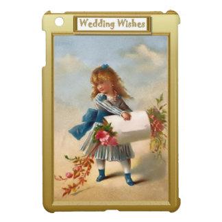 Girl with flowers iPad mini case