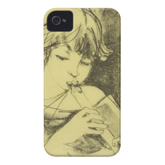 Girl with Flute iPhone 4 Case-Mate ID