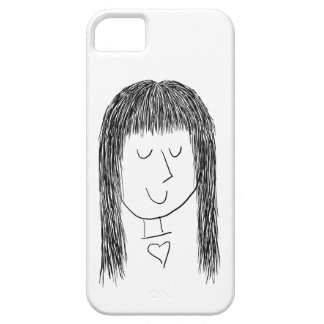 Girl with Fringe iPhone 5 Cover