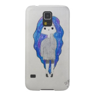 Girl with galaxy hair galaxy s5 cases