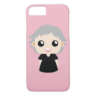 Girl with Grey Hair iPhone 8/7 Case