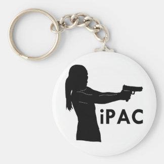 Girl With Gun iPac Keychains
