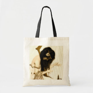 Girl with Harp Tote Bag