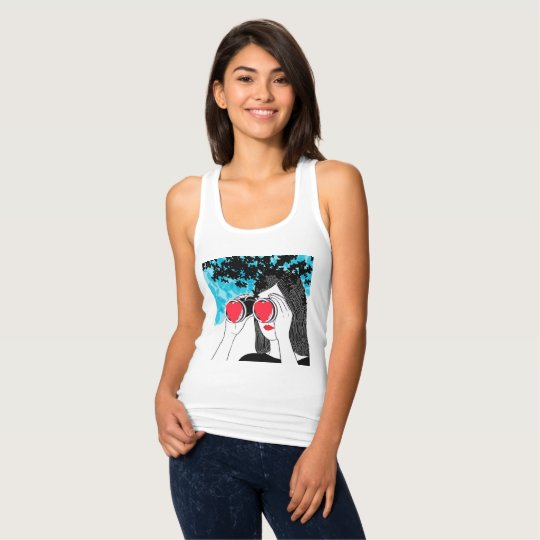 Girl with heart tank top