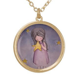 Girl with Kawaii Star Necklace