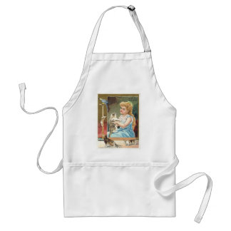 Girl with kittens standard apron