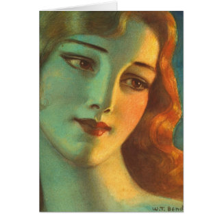 Girl With Long Hair 1923 Greeting Card