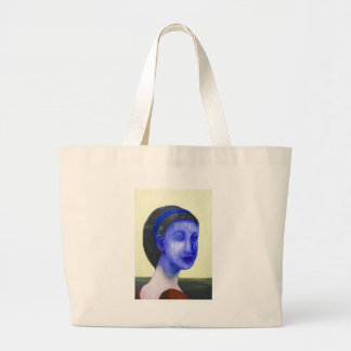 Girl with no face (surreal realism) canvas bag