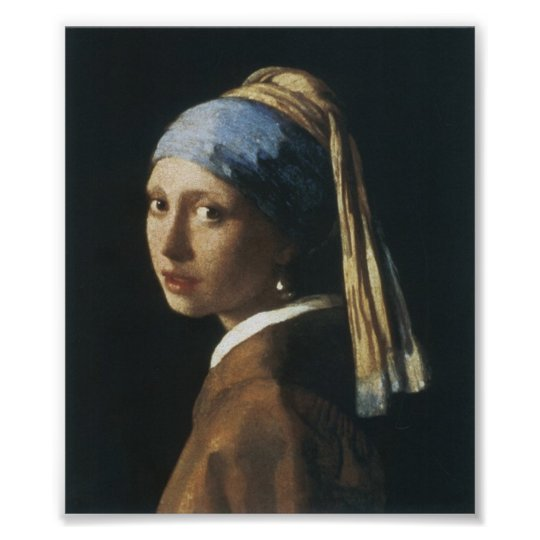 Girl with Pearl Earring Wall Poster