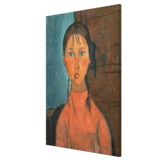 Girl with Pigtails, c.1918 (oil on canvas) Canvas Print