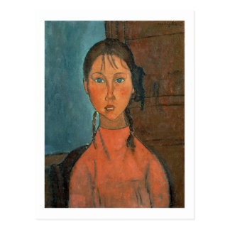 Girl with Pigtails, c.1918 (oil on canvas) Postcards