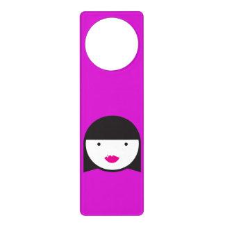 Girl with Pink Lips Door Hanger