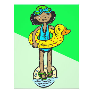 Girl with Pool Toy 21.5 Cm X 28 Cm Flyer
