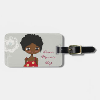 Girl with Rose Luggage Tag (personalize)
