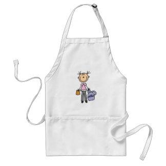 Girl with School Bag Standard Apron