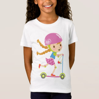 Girl with scooter T-Shirt