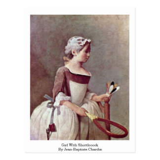Girl With Shuttlecock By Jean-Baptiste Chardin Postcard
