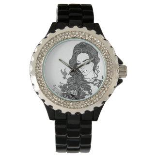 Girl with tatoo watch