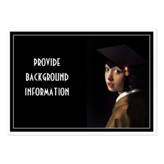 Girl with the Graduation Hat Business Card Template
