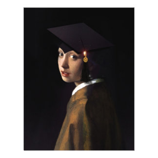 Girl with the Graduation Hat (Pearl Earring) 21.5 Cm X 28 Cm Flyer