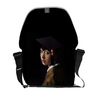 Girl with the Graduation Hat (Pearl Earring) Courier Bag