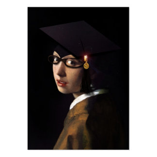 Girl with the Graduation Hat (Pearl Earring) Pack Of Chubby Business Cards