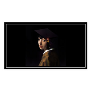 Girl with the Graduation Hat (Pearl Earring) Pack Of Standard Business Cards