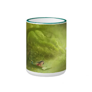 girl with the green daydream mug