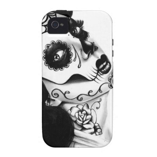 Girl With The Neck Tattoo by Carissa Rose Case-Mate iPhone 4 Cover