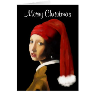 Girl with the Pearl Earring Christmas Card