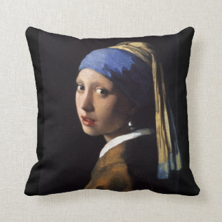 Girl With The Pearl Earring Pillow