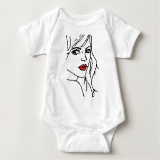 Girl with the red lips baby bodysuit