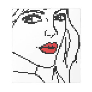 Girl with the red lips notepad