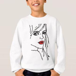 Girl with the red lips sweatshirt