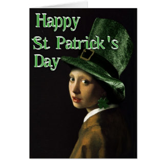 Girl With The Shamrock Earring - St Patrick's Day Card