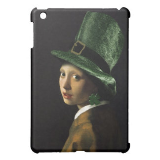 Girl With The Shamrock Earring - St Patrick's Day Cover For The iPad Mini