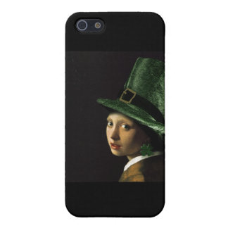 Girl With The Shamrock Earring - St Patrick's Day iPhone 5 Covers