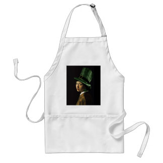 Girl With The Shamrock Earring - St Patrick's Day Standard Apron